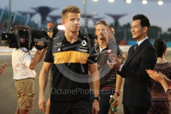 World © Octane Photographic Ltd. Formula 1 – Singapore GP - Drivers Parade. Renault Sport F1 Team RS18 – Nico Hulkenberg. Marina Bay Street Circuit, Singapore. Sunday 16th September 2018.