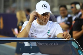 World © Octane Photographic Ltd. Formula 1 – Singapore GP - Drivers Parade. Mercedes AMG Petronas Motorsport AMG F1 W09 EQ Power+ - Valtteri Bottas. Marina Bay Street Circuit, Singapore. Sunday 16th September 2018.