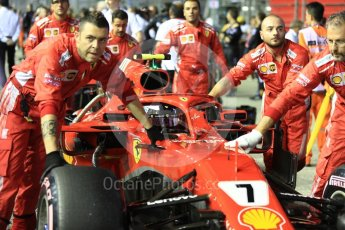 World © Octane Photographic Ltd. Formula 1 – Singapore GP - Grid. Scuderia Ferrari SF71-H – Kimi Raikkonen. Marina Bay Street Circuit, Singapore. Sunday 16th September 2018.