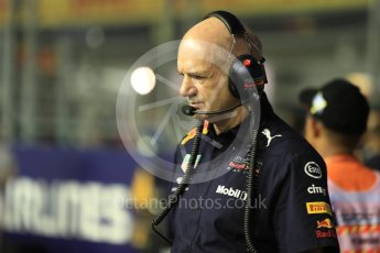 World © Octane Photographic Ltd. Formula 1 – Singapore GP - Grid. Adrian Newey. Marina Bay Street Circuit, Singapore. Sunday 16th September 2018.