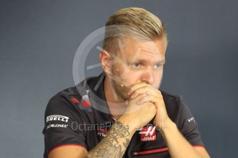 World © Octane Photographic Ltd. Formula 1 – Italian GP - FIA Drivers' Press Conference. Haas F1 Team VF-18 – Kevin Magnussen. Marina Bay Street Circuit, Singapore. Thursday 13th September 2018.