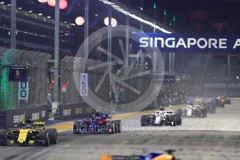 World © Octane Photographic Ltd. Formula 1 – Singapore GP - Race. Alfa Romeo Sauber F1 Team C37 – Charles Leclerc. Marina Bay Street Circuit, Singapore. Sunday 16th September 2018.