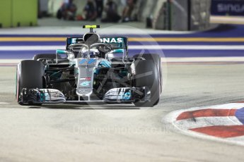 World © Octane Photographic Ltd. Formula 1 – Singapore GP - Race. Mercedes AMG Petronas Motorsport AMG F1 W09 EQ Power+ - Valtteri Bottas. Marina Bay Street Circuit, Singapore. Sunday 16th September 2018.