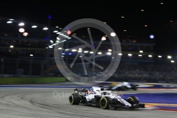 World © Octane Photographic Ltd. Formula 1 – Singapore GP - Race. Williams Martini Racing FW41 – Lance Stroll. Marina Bay Street Circuit, Singapore. Sunday 16th September 2018.