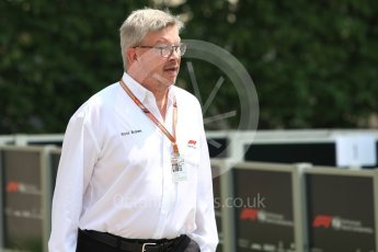 World © Octane Photographic Ltd. Formula 1 - Singapore GP - Paddock. Ross Brawn – Managing Director of Formula 1 for Liberty Media. Marina Bay Street Circuit, Singapore. Friday 14th September 2018.