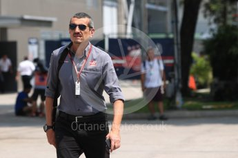 World © Octane Photographic Ltd. Formula 1 - Singapore GP - Paddock. Guenther Steiner  - Team Principal of Haas F1 Team. Marina Bay Street Circuit, Singapore. Friday 14th September 2018.