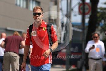 World © Octane Photographic Ltd. Formula 1 – Singapore GP - Paddock. Scuderia Ferrari – Sebastian Vettel. Marina Bay Street Circuit, Singapore. Friday 14th September 2018.