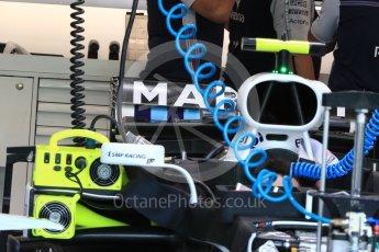 World © Octane Photographic Ltd. Formula 1 – Singapore GP - Thursday Pit Lane. Williams Martini Racing FW41. Marina Bay Street Circuit, Singapore. Thursday 13th September 2018.