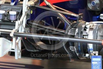 World © Octane Photographic Ltd. Formula 1 – Singapore GP - Thursday Pit Lane. Scuderia Toro Rosso STR13. Marina Bay Street Circuit, Singapore. Thursday 13th September 2018.