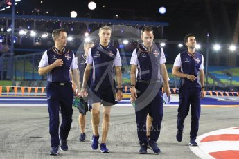 World © Octane Photographic Ltd. Formula 1 – Singapore GP - Track Walk. Williams Martini Racing FW41 – Sergey Sirotkin. Marina Bay Street Circuit, Singapore. Thursday 13th September 2018.