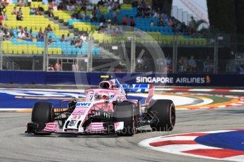 World © Octane Photographic Ltd. Formula 1 – Singapore GP - Practice 1. Racing Point Force India VJM11 - Esteban Ocon. Marina Bay Street Circuit, Singapore. Friday 14th September 2018.