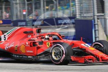 World © Octane Photographic Ltd. Formula 1 – Singapore GP - Practice 1. Scuderia Ferrari SF71-H – Sebastian Vettel. Marina Bay Street Circuit, Singapore. Friday 14th September 2018.