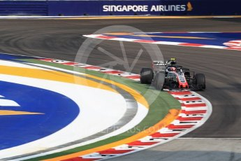 World © Octane Photographic Ltd. Formula 1 – Singapore GP - Practice 1. Haas F1 Team VF-18 – Kevin Magnussen. Marina Bay Street Circuit, Singapore. Friday 14th September 2018.