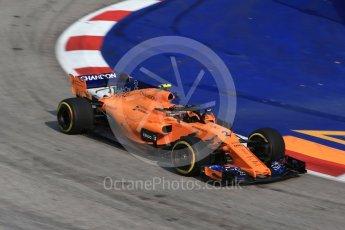 World © Octane Photographic Ltd. Formula 1 – Singapore GP - Practice 1. McLaren MCL33 – Stoffel Vandoorne. Marina Bay Street Circuit, Singapore. Friday 14th September 2018.