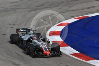 World © Octane Photographic Ltd. Formula 1 – Singapore GP - Practice 1. Haas F1 Team VF-18 – Romain Grosjean. Marina Bay Street Circuit, Singapore. Friday 14th September 2018.