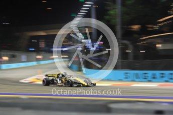 World © Octane Photographic Ltd. Formula 1 – Singapore GP - Practice 2. Renault Sport F1 Team RS18 – Nico Hulkenberg. Marina Bay Street Circuit, Singapore. Friday 14th September 2018.