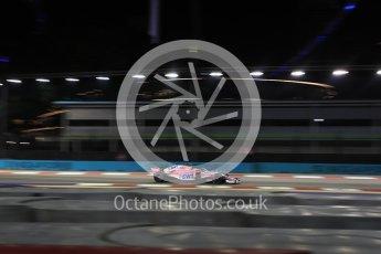 World © Octane Photographic Ltd. Formula 1 – Singapore GP - Practice 2. Racing Point Force India VJM11 - Esteban Ocon. Marina Bay Street Circuit, Singapore. Friday 14th September 2018.