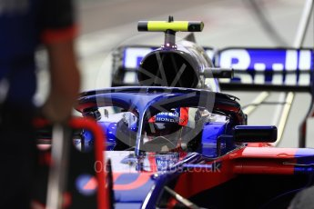 World © Octane Photographic Ltd. Formula 1 – Singapore GP - Practice 3. Scuderia Toro Rosso STR13 – Pierre Gasly. Marina Bay Street Circuit, Singapore. Saturday 15th September 2018.