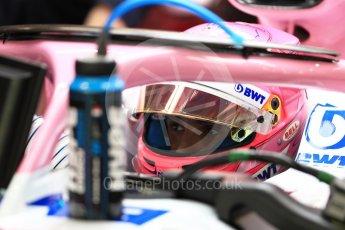World © Octane Photographic Ltd. Formula 1 – Singapore GP - Practice 3. Racing Point Force India VJM11 - Esteban Ocon. Marina Bay Street Circuit, Singapore. Saturday 15th September 2018.