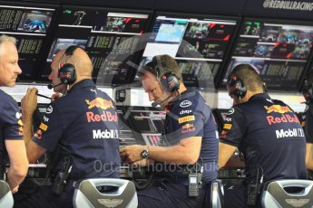 World © Octane Photographic Ltd. Formula 1 - Singapore GP - Practice 3. Christian Horner - Team Principal of Red Bull Racing. Marina Bay Street Circuit, Singapore. Saturday 15th September 2018.