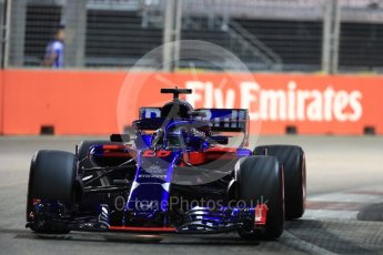 World © Octane Photographic Ltd. Formula 1 – Singapore GP - Qualifying. Scuderia Toro Rosso STR13 – Brendon Hartley. Marina Bay Street Circuit, Singapore. Saturday 15th September 2018.