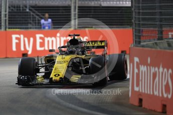 World © Octane Photographic Ltd. Formula 1 – Singapore GP - Qualifying. Renault Sport F1 Team RS18 – Nico Hulkenberg. Marina Bay Street Circuit, Singapore. Saturday 15th September 2018.