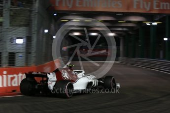 World © Octane Photographic Ltd. Formula 1 – Singapore GP - Qualifying. Alfa Romeo Sauber F1 Team C37 – Charles Leclerc. Marina Bay Street Circuit, Singapore. Saturday 15th September 2018.