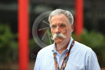 World © Octane Photographic Ltd. Formula 1 - Singapore GP - Paddock. Chase Carey - Chief Executive Officer of the Formula One Group. Marina Bay Street Circuit, Singapore. Saturday 15th September 2018.