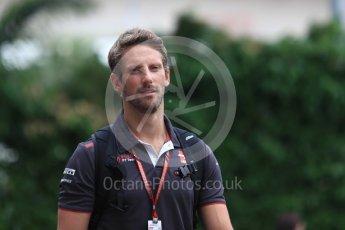 World © Octane Photographic Ltd. Formula 1 – Singapore GP - Paddock. Haas F1 Team VF-18 – Romain Grosjean. Marina Bay Street Circuit, Singapore. Saturday 15th September 2018.