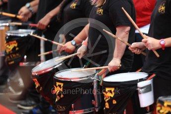World © Octane Photographic Ltd. Formula 1 – Spanish GP - Drivers' Parade. Drums of the 'Batucaires'. Circuit de Barcelona-Catalunya, Spain. Sunday 13th May 2018.