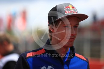 World © Octane Photographic Ltd. Formula 1 – Spanish GP - Drivers' Parade. Scuderia Toro Rosso STR13 – Brendon Hartley. Circuit de Barcelona-Catalunya, Spain. Sunday 13th May 2018.