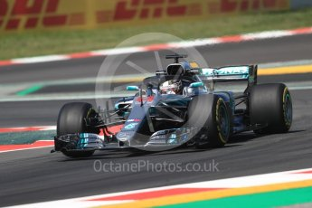 World © Octane Photographic Ltd. Formula 1 – Spanish GP - Practice 1. Mercedes AMG Petronas Motorsport AMG F1 W09 EQ Power+ - Lewis Hamilton. Circuit de Barcelona-Catalunya, Spain. Friday 11th May 2018.