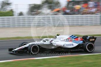 World © Octane Photographic Ltd. Formula 1 – Spanish GP - Saturday Practice 3. Williams Martini Racing FW41 – Sergey Sirotkin. Circuit de Barcelona-Catalunya, Spain. Saturday 12th May 2018.