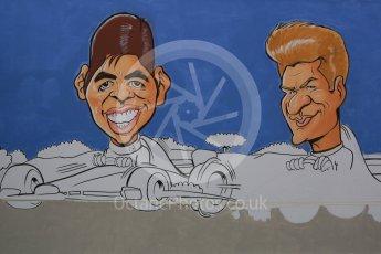 World © Octane Photographic Ltd. Formula 1 – Spanish GP - Saturday - Practice 3. Drawings of drivers. Circuit de Barcelona-Catalunya, Spain. Saturday 12th May 2018.