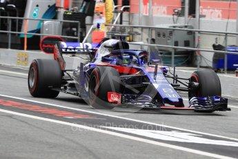 World © Octane Photographic Ltd. Formula 1 – Spanish GP - Saturday - Practice 3. Scuderia Toro Rosso STR13 – Brendon Hartley. Circuit de Barcelona-Catalunya, Spain. Saturday 12th May 2018.