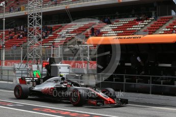 World © Octane Photographic Ltd. Formula 1 – Spanish GP - Saturday Practice 3. Haas F1 Team VF-18 – Kevin Magnussen. Circuit de Barcelona-Catalunya, Spain. Saturday 12th May 2018.
