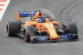 World © Octane Photographic Ltd. Formula 1 – Spanish GP - Saturday Qualifying. McLaren MCL33 – Fernando Alonso. Circuit de Barcelona-Catalunya, Spain. Saturday 12th May 2018.