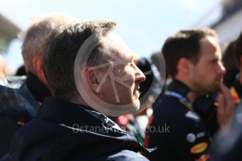 World © Octane Photographic Ltd. Formula 1 - Spanish GP - Sunday Parc Ferme. Christian Horner - Team Principal of Red Bull Racing. Circuit de Barcelona-Catalunya, Spain. Sunday 13th May 2018.