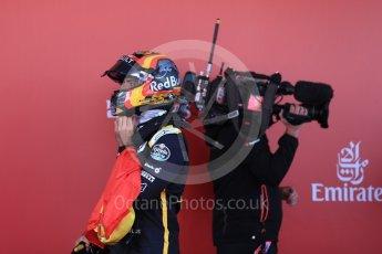 World © Octane Photographic Ltd. Formula 1 – Spanish GP - Sunday Parc Ferme. Renault Sport F1 Team RS18 – Carlos Sainz. Circuit de Barcelona-Catalunya, Spain. Sunday 13th May 2018.