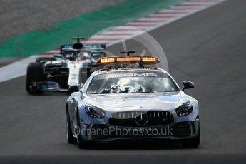 World © Octane Photographic Ltd. Formula 1 – Spanish GP - Race. Mercedes AMG Petronas Motorsport AMG F1 W09 EQ Power+ - Lewis Hamilton leads under safety car. Circuit de Barcelona-Catalunya, Spain. Sunday 13th May 2018.