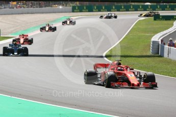 World © Octane Photographic Ltd. Formula 1 – Spanish GP - Race. Scuderia Ferrari SF71-H – Sebastian Vettel. Circuit de Barcelona-Catalunya, Spain. Sunday 13th May 2018.