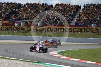 World © Octane Photographic Ltd. Formula 1 – Spanish GP - Race. Sahara Force India VJM11 - Esteban Ocon. Circuit de Barcelona-Catalunya, Spain. Sunday 13th May 2018.
