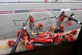 World © Octane Photographic Ltd. Formula 1 – Spanish GP - Race. Scuderia Ferrari SF71-H – Kimi Raikkonen retires. Circuit de Barcelona-Catalunya, Spain. Sunday 13th May 2018.