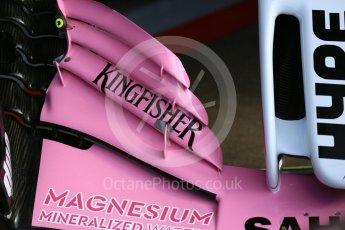 World © Octane Photographic Ltd. Formula 1 – Spanish GP - Friday Setup. Sahara Force India VJM11. Circuit de Barcelona-Catalunya, Spain. Friday 11th May 2018.