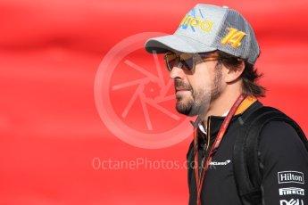 World © Octane Photographic Ltd. Formula 1 – Spanish GP - Paddock. McLaren MCL33 – Fernando Alonso. Circuit de Barcelona-Catalunya, Spain. Friday 11th May 2018.