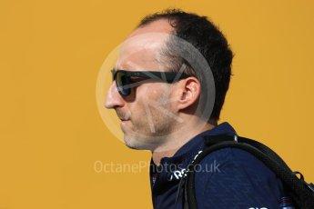 World © Octane Photographic Ltd. Formula 1 – Spanish GP - Paddock. Williams Martini Racing FW41 – Robert Kubica. Circuit de Barcelona-Catalunya, Spain. Friday 11th May 2018.