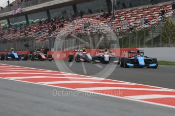 World © Octane Photographic Ltd. GP3 – Spanish GP – Race 1. Green flag Formation lap. Circuit de Barcelona-Catalunya, Spain. Saturday 12th May 2018.