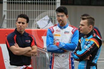 World © Octane Photographic Ltd. GP3 – Spanish GP – Class of 2018. Arden International - Joey Mawson, Jenzer Motorsport - Juan Manual Correa and David Beckman. Circuit de Barcelona-Catalunya, Spain. Thursday 10th May 2018.