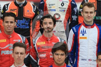 World © Octane Photographic Ltd. GP3 – Spanish GP – Class of 2018. Arden International - Joey Mawson and Gabriel Aubry; Trident - Ryan Tveter. Circuit de Barcelona-Catalunya, Spain. Thursday 10th May 2018.