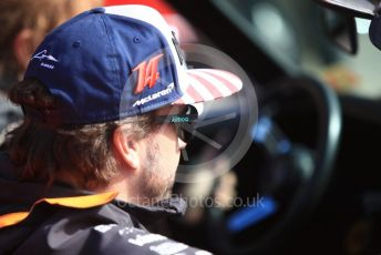 World © Octane Photographic Ltd. Formula 1 – United States GP - Drivers Parade. McLaren MCL33 – Fernando Alonso. Circuit of the Americas (COTA), USA. Sunday 21st October 2018.